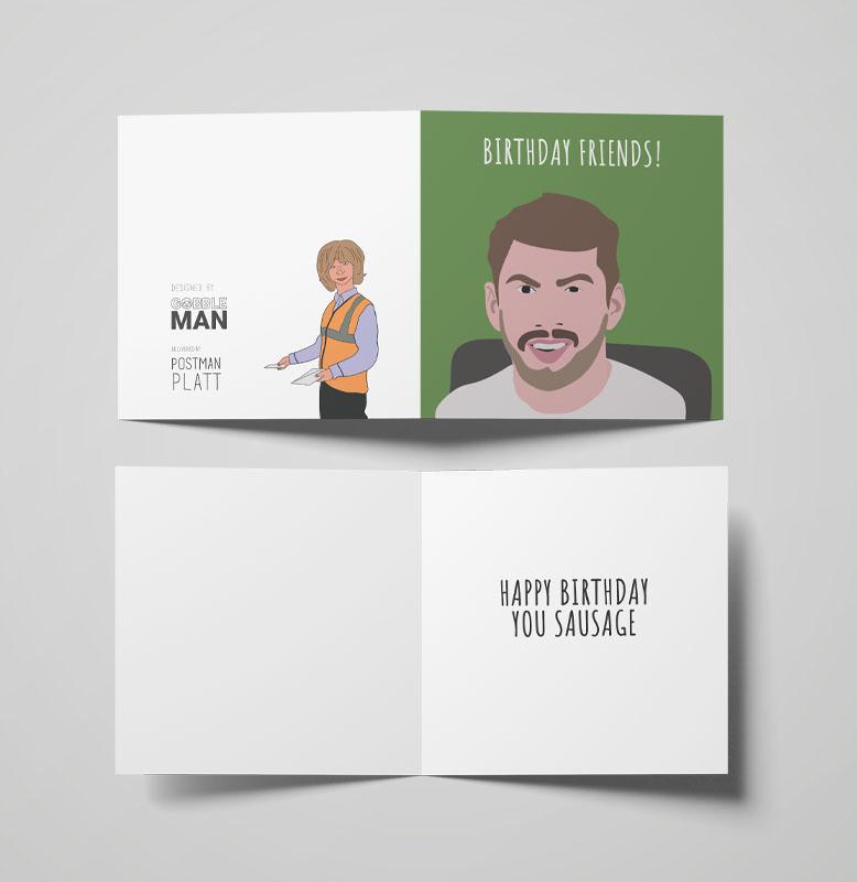Customised Cartoon Art Greetings Card