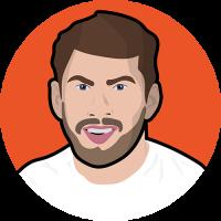 Alex Ledine Illustration Profile Picture Circular Orange